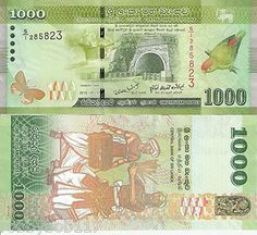 pack rupees | SRI LANKA 1000 Rupee Banknote World Paper Money Currency Asia BILL ... Sri Lanka, Make Money From Pinterest, Money Worksheets, Rare Coins Worth Money, Money Notes, Central Bank, World Coins, Kitchen Faucets, Rock Wall