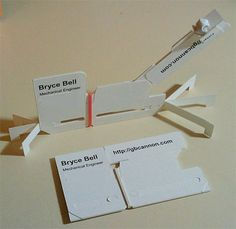 Mechanical Engineer's catapult business card.