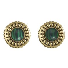 House of Harlow 1960 Jewelry Cuzco Stud Earring ($22) ❤ liked on Polyvore featuring jewelry, earrings, accessories, malachite, women, house of harlow 1960 jewelry, stud earrings, gold tone jewelry, stud earring set and gold tone earrings