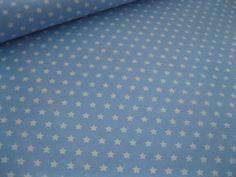 Baumwollstoff Sterne hellblau von Stinchens-Traumwelt auf DaWanda.com