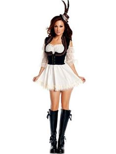 Steampunk Lady Costume | Wholesale Steampunk Halloween Costumes for Sexy