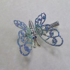 1990's popular butterfly hair pins...i had one exactly like this but black-white ...