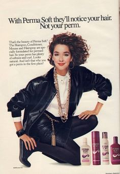 Perma Soft hair care I had ONE perm and it was the biggest hair mistake of my life. Permed Hairstyles, Modern Hairstyles, Vintage Hairstyles, Vintage Makeup, Vintage Beauty, Vintage Advertisements, Vintage Ads, Getting A Perm, 80s And 90s Fashion