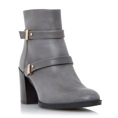 DUNE BLACK LADIES OREN - Double Strap Leather Ankle Boot - grey | Dune Shoes Online