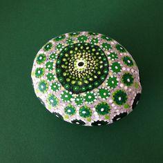 A beautiful mandala in shades of green,by Mirjam Eckenbach.