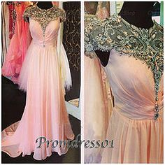 #promdress01 prom dresses - 2015 pink chiffon cap sleeve backless mermaid rhinestone formal prom dress for teens, ball gown, occasion dress #prom2k15 #promdress -> www.promdress01.c... #coniefox #2016prom