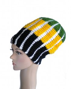 Jamaica dreadlock hat rasta crown big dread beanie by MultiKultiCrafts