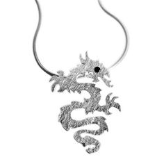 The Early Bird Silver Tribal Dragon Pendant