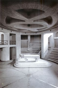 Giovanni Michelucci - interior of Church of the Immaculate Conception, Longarone, Italy, 1966-78