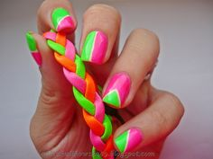 25 Cute Eye Catching Neon Nail Arts - Be Modish - Be Modish