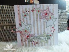 Magical Scrapworld, Happy Christmas, star wreath, brushstrokes, cards, christmas, Seasonal bells, Stampin' Up!,