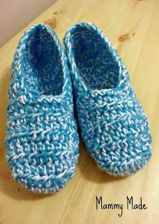 """Mammy Made: """"24 Days to Christmas"""" Countdown - Crocheted Slippers"""