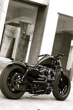 Harley Bobber with Fat Tyres                                                                                                                                                      More