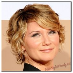 Adorable hairstyle for short curly hair