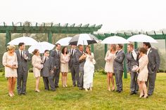 Rainy Wedding Day Fun