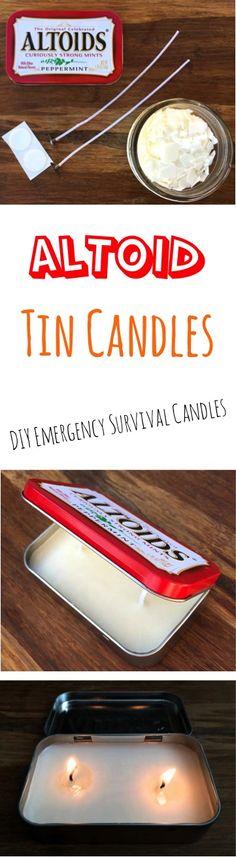 DIY Candle! Altoid Tin Survival Candles.