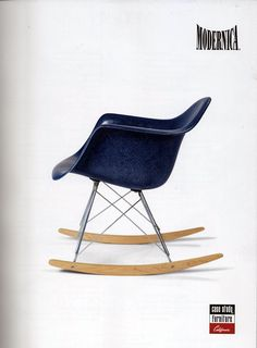 indigo blue chair from Modernica - love this color!