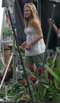 Who made Jennifer Aniston's green pants?