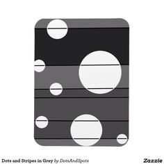 Dots and Stripes in Grey Rectangular Photo Magnet