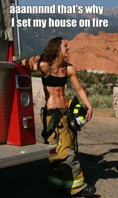"""iron-body: """"logicvsreason: """" Woman Firefighter, I love this picture! - Her abs are crazy too """" Girl crush """" Fitness Inspiration, Body Inspiration, Workout Inspiration, Body Fitness, Health Fitness, Fitness Women, Workout Fitness, Mädchen In Uniform, Fitness Motivation"""