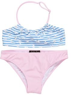 7d89df1b66a06 Shop At Stella Cove | Striped Light Blue Bikini with Silver Anchors For  Girls Cool Girl