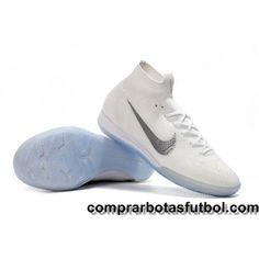 official photos 22025 48f7f Compras Botas De Futbol Nike Mercurial SuperflyX VI Elite IC Blanco Gris