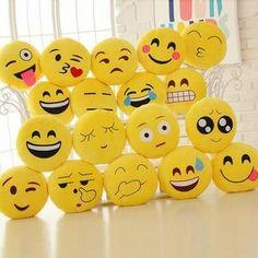 Cute emoji pillows.