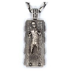 Star Wars Han Solo in Carbonite Sterling Silver Necklace - Han Cholo - Star Wars - Jewelry at Entertainment Earth Star Wars Jewelry, Star Wars Han Solo, Green Sapphire, Sterling Silver Necklaces, Dog Tag Necklace, Jewelry Watches, Women Jewelry, Pendant Necklace, Stars