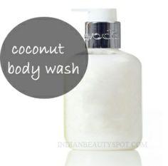 COCONUT MILK BODY WASH:  •½ Cup Coconut Milk •⅓ Cup Body wash or ¾ Cup castile soap •2 handfuls of Rosemary leaves •2 tsp honey •2 tsp Vitamin e oil  •1 Cinnamon stick