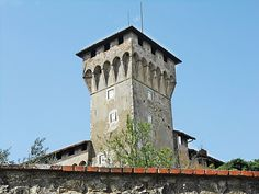 The first Medici villas were the Villa del Trebbio and that at Cafaggiolo, both strong fortified houses built in the 14th century in the Mugello region, the original home of the Medici family. In the 15th century, Cosimo de' Medici built villas designed by Michelozzo at Careggi and Fiesole, still quite severe buildings, but with additional recreational spaces: courtyards, balconies, and gardens