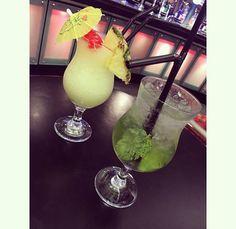 #cocktails #birthday #sheffield #damons #mojito #daiquiri #banana #bar #date #love #straw #light