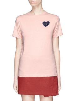 ALEXA CHUNG 'Lonely Hearts Club' velvet flock T-shirt. #alexachung #cloth #