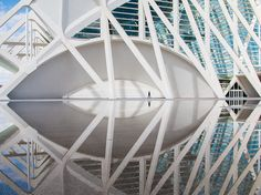 Picture of the interior of the City of Arts and Sciences in Valencia, Spain