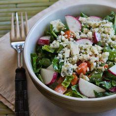Crunchy Chopped Salad Recipe with Gorgonzola and Radishes