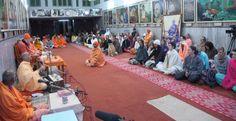 Radhanath Swami speaks at Divine Life Society, Rishikesh, India.