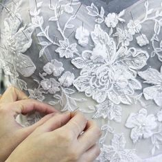 Work in progress - it's all about the hand work #mirazwillinger #behindthescenes #atelier #couture
