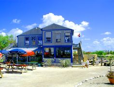 Barnacle Phil's, the only restaurant on North Captiva Island, FL; island is accessible only by boat.