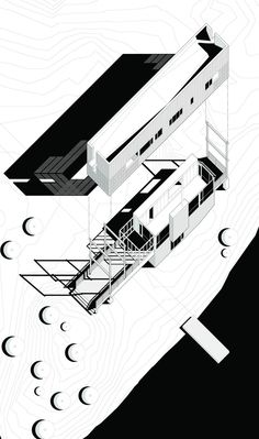 I love exploded axonometric drawings Bridge House by MacKay-Lyons Sweetapple Architects