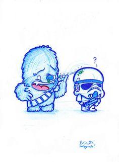 Blue Doodle #30: Jerk Chewbacca!