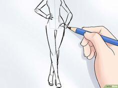 Come Disegnare un Figurino di Moda: 15 Passaggi Net Fashion, Fashion Art, Fashion Models, Fashion Shoes, Fashion Model Sketch, Fashion Design Sketches, Silhouette Mode, Body Sketches, Fashion Templates