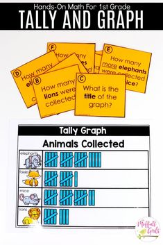 Tally Charts- Fun math games to teach graphs and simple data analysis in Grade! Math Games, Math Activities, Second Grade Math, Grade 2, School Survival Kits, Core Learning, 1st Grade Math Worksheets, Go Math, Math Numbers