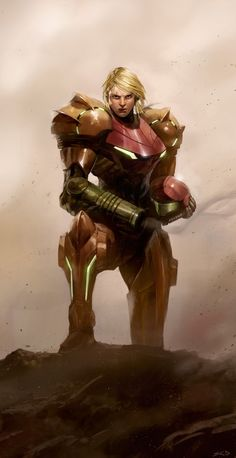 Samus Portrait by ~poojipoo on deviantART