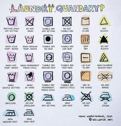 Decode laundry instructions (and never shrink your fave shirt again).