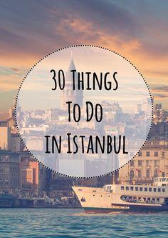 30 Things to do in Istanbul: http://citytransferistanbul.com/Istanbul-City-Guide/hotel/Istanbul-Attractions.html  bin zur Zeit in Istanbul deshalb folgen noch einige Pins zu dem Thema ^^