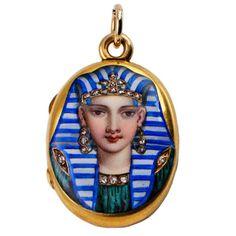 Victorian Egyptian Revival Locket