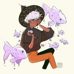 Cute Male Witch Art