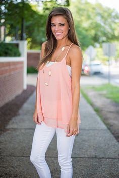 """OMG the back on this  """"Haute In Here Tank, Peach"""""""