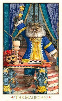 """I - Le magicien - Tarot baroque """"les chats bohèmes"""" Karen Mahony & Alex Ukolov"""