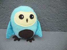 Plush Owl Stuffed Owl Baby Toy by FranconiaRidgeStudio on Etsy, $13.00