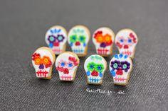 PetitPlat Miniatures by Stephanie Kilgast: Day of the Dead - Día de los Muertos - Halloween Jewelry Polymer Clay Miniature Food